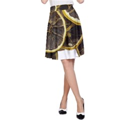 Lemon Dried Fruit Orange Isolated A Line Skirt by Nexatart