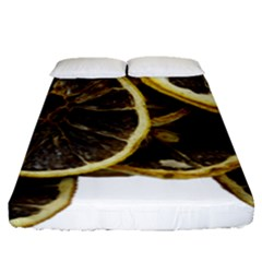 Lemon Dried Fruit Orange Isolated Fitted Sheet (queen Size) by Nexatart