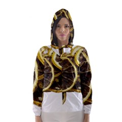 Lemon Dried Fruit Orange Isolated Hooded Wind Breaker (women) by Nexatart