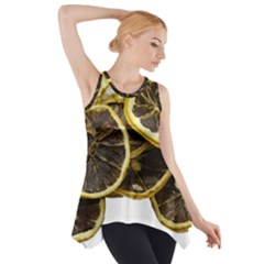 Lemon Dried Fruit Orange Isolated Side Drop Tank Tunic by Nexatart