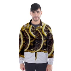 Lemon Dried Fruit Orange Isolated Wind Breaker (men) by Nexatart