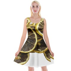 Lemon Dried Fruit Orange Isolated Reversible Velvet Sleeveless Dress by Nexatart