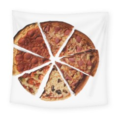 Food Fast Pizza Fast Food Square Tapestry (large) by Nexatart