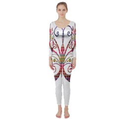 Butterfly Nature Abstract Beautiful Long Sleeve Catsuit by Nexatart