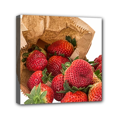 Strawberries Fruit Food Delicious Mini Canvas 6  X 6  by Nexatart