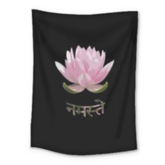 Namaste   Lotus Medium Tapestry by Valentinaart