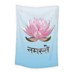 Namaste   Lotus Small Tapestry by Valentinaart