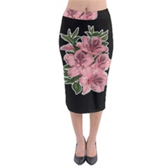 Orchid Midi Pencil Skirt by Valentinaart