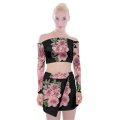 Orchid Off Shoulder Top With Skirt Set by Valentinaart
