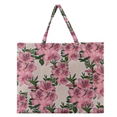 Orchid Zipper Large Tote Bag by Valentinaart