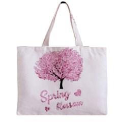 Spring Blossom  Medium Zipper Tote Bag by Valentinaart