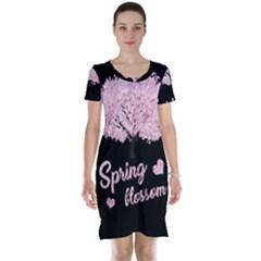Spring Blossom  Short Sleeve Nightdress by Valentinaart
