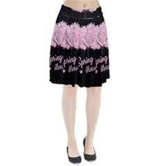 Spring blossom  Pleated Skirt by Valentinaart