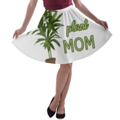 Plant Mom A Line Skater Skirt by Valentinaart