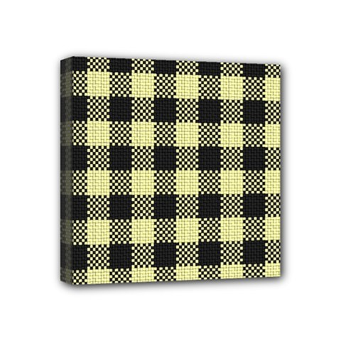 Plaid Pattern Mini Canvas 4  X 4  by ValentinaDesign