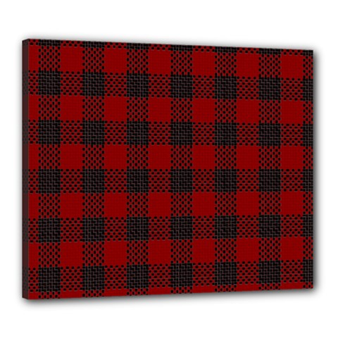 Plaid Pattern Canvas 24  X 20  by ValentinaDesign