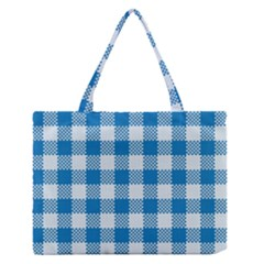 Plaid Pattern Medium Zipper Tote Bag by ValentinaDesign