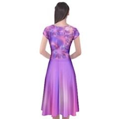 Cap Sleeve Wrap Front Dress