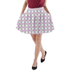 Plaid Pattern A Line Pocket Skirt by ValentinaDesign