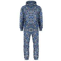 Geometric Luxury Ornate Hooded Jumpsuit (men)  by dflcprintsclothing