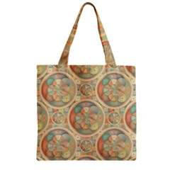 Complex Geometric Pattern Zipper Grocery Tote Bag by linceazul