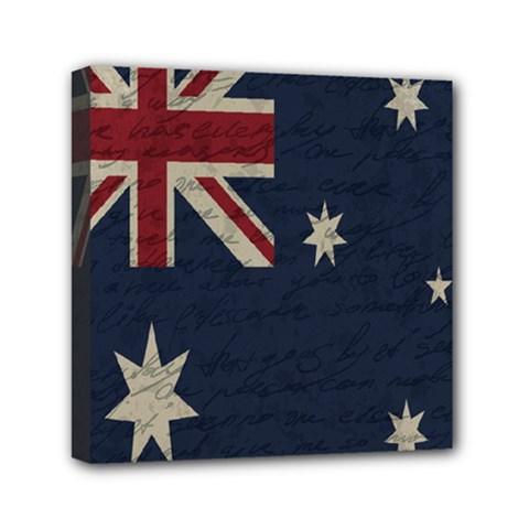 Vintage Australian Flag Mini Canvas 6  X 6  by ValentinaDesign