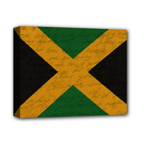 Vintage Flag   Jamaica Deluxe Canvas 14  X 11  by ValentinaDesign