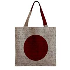Vintage Flag   Japan Grocery Tote Bag by ValentinaDesign