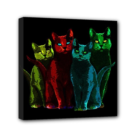 Cats Mini Canvas 6  X 6  by Valentinaart