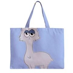 Grumpy Persian Cat Llama Zipper Mini Tote Bag by Catifornia