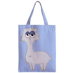 Grumpy Persian Cat Llama Zipper Classic Tote Bag by Catifornia