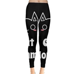 Love My Cat Mommy Leggings  by Catifornia