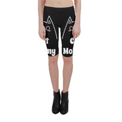 Love My Cat Mommy Cropped Leggings  by Catifornia