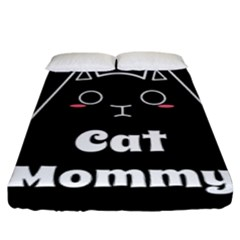 Love My Cat Mommy Fitted Sheet (king Size) by Catifornia