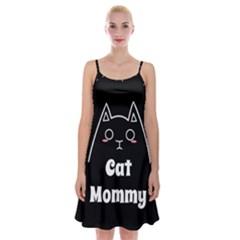 Love My Cat Mommy Spaghetti Strap Velvet Dress by Catifornia