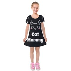 Love My Cat Mommy Kids  Short Sleeve Velvet Dress by Catifornia