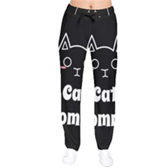 Love My Cat Mommy Drawstring Pants by Catifornia