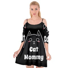 Love My Cat Mommy Cutout Spaghetti Strap Chiffon Dress by Catifornia