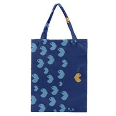 Blue Fish Sea Beach Swim Yellow Predator Water Classic Tote Bag by Mariart