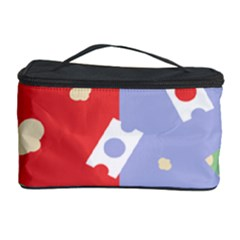 Glasses Red Blue Green Cloud Line Cart Cosmetic Storage Case by Mariart