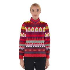 Fabric Aztec Red Line Polka Circle Wave Chevron Star Winterwear by Mariart