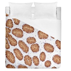 Formalin Paraffin Human Stomach Stained Bacteria Brown Duvet Cover (queen Size) by Mariart