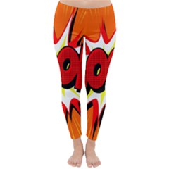 Boom Sale Orange Classic Winter Leggings by Mariart