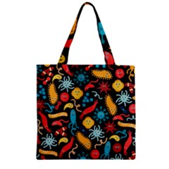 Worm Insect Bacteria Monster Zipper Grocery Tote Bag by Mariart