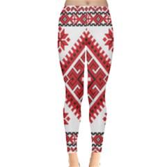 Fabric Aztec Leggings  by Mariart