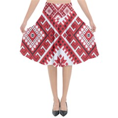 Fabric Aztec Flared Midi Skirt by Mariart
