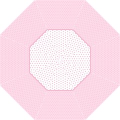 Love Polka Dot White Pink Line Straight Umbrellas by Mariart