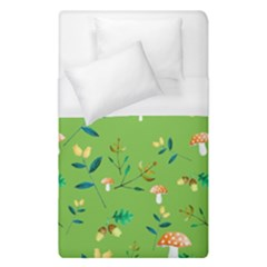Mushrooms Flower Leaf Tulip Duvet Cover (single Size) by Mariart