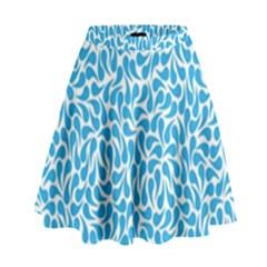 Pattern Blue High Waist Skirt by Mariart