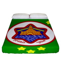 Tel Aviv Coat Of Arms  Fitted Sheet (king Size) by abbeyz71